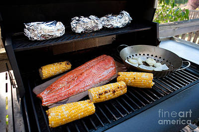 Barbecue Grill Poster by Jim Corwin