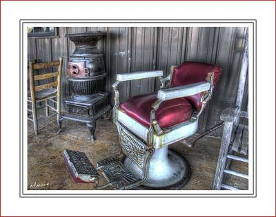 Barber Chair And Potbelly Stove Poster