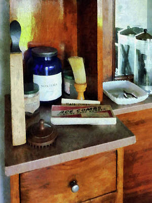 Barber - Shaving Brush And Box Of Combs Poster