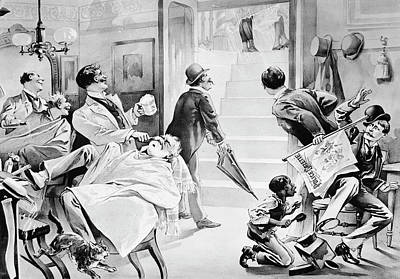 Barber Shop, 19th Century Poster by Granger