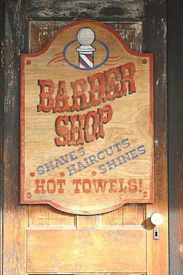 Barber Shop Poster by Lynnette Johns
