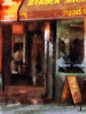 Barber - West Village Barber Shop Poster by Susan Savad