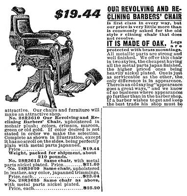 Barber's Chair, 1902 Poster by Granger