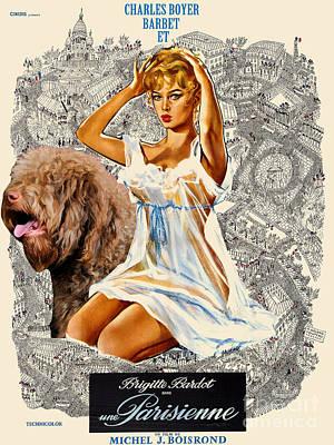Barbet Art - Una Parisienne Movie Poster Poster by Sandra Sij