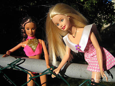 Poster featuring the photograph Barbie Escapes by Nina Silver