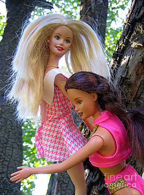 Poster featuring the photograph Barbie's Climbing Trees by Nina Silver