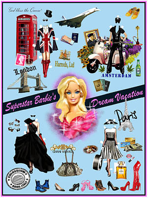 Barbie's Superstar Dream Vacation Poster