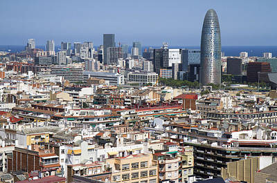 Poster featuring the photograph Barcelona Cityscape by Nathan Rupert