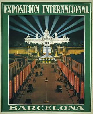 Barcelona International Exhibition Poster by Everett
