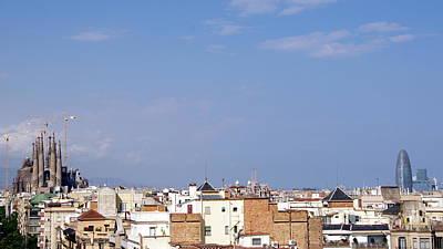 Barcelona Skyline Poster by Patrick Dinneen