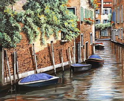 Barche A Venezia Poster by Guido Borelli