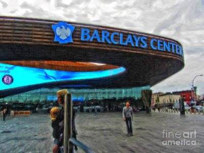 Barclays Center Brooklyn Poster by Nishanth Gopinathan