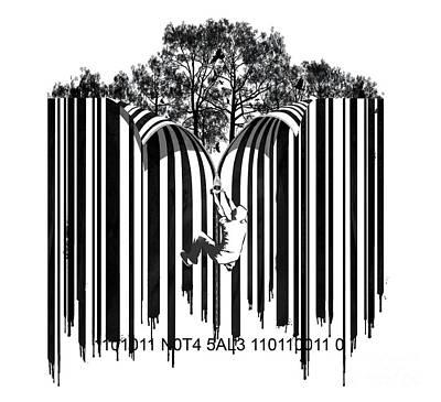 Barcode Graffiti Poster Print Unzip The Code Poster by Sassan Filsoof
