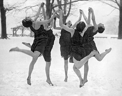 Barefoot Dance In The Snow Poster by Underwood