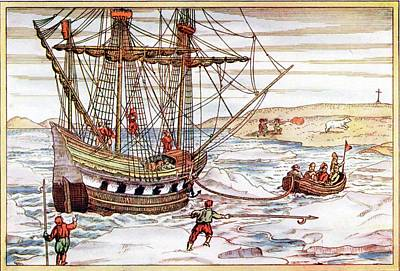 Barents' Ship Among The Arctic Ice Poster by Universal History Archive/uig