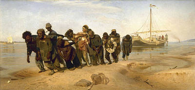 Barge Haulers On The Volga Poster by Burlaki