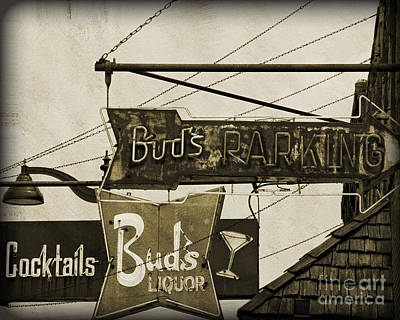 Poster featuring the photograph Barhopping At Buds 2 by Lee Craig