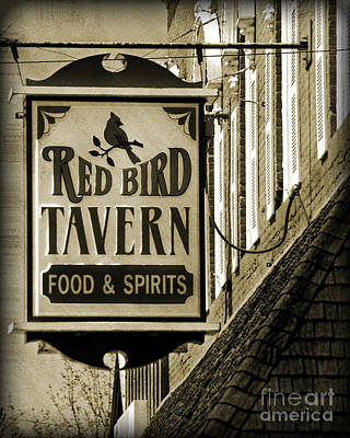 Poster featuring the photograph Barhopping At The Red Bird 2 by Lee Craig
