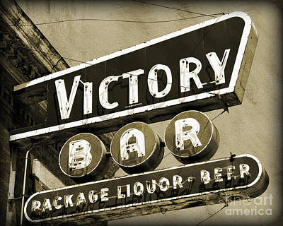 Poster featuring the photograph Barhopping At The Victory 2 by Lee Craig