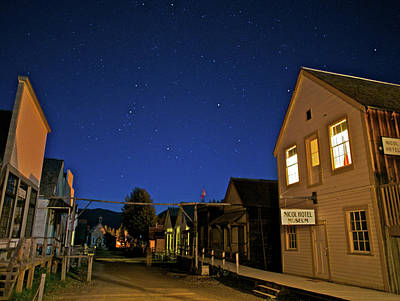 Barkerville At Night Poster