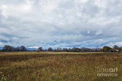 Barn And Field Poster by Belinda Greb