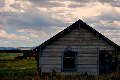 Poster featuring the photograph Barn And Tractor by Matt Harang