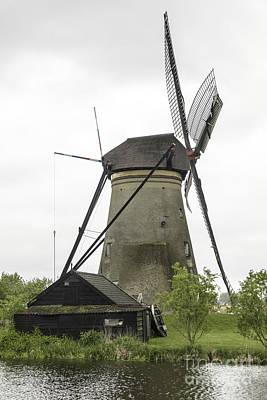 Barn And Windmill Kinderdijk Poster by Teresa Mucha