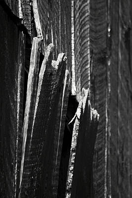 Barn Boards Black And White Poster by Rebecca Sherman