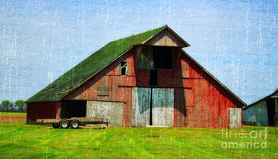 Barn - Central Illinois - Luther Fine Art Poster by Luther Fine Art