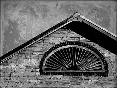 Barn Detail - Black And White Poster