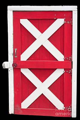 Poster featuring the photograph Barn Door by Gunter Nezhoda