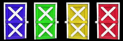 Barn Doors Poster by Gunter Nezhoda