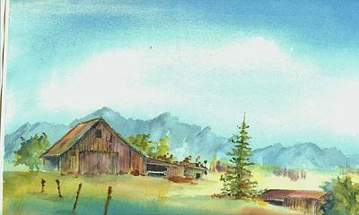 Barn--east Of The Sierra's Poster by David Patrick