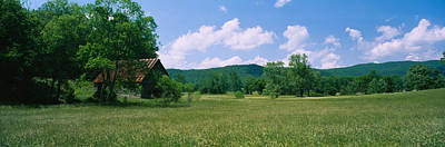 Barn In A Field, Cades Cove, Great Poster by Panoramic Images