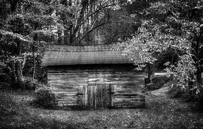 Barn In Black And White Poster by Greg Mimbs