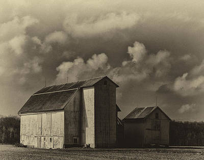 Barn In Sepia Poster