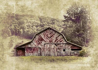 Barn In The Blue Ridge Poster by Dan Carmichael