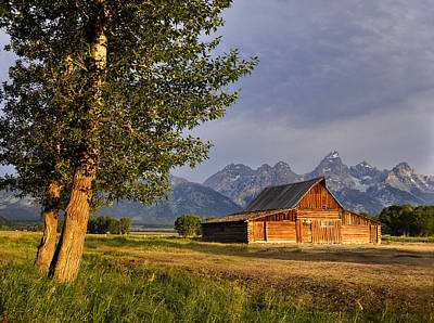 Barn In The Tetons Poster