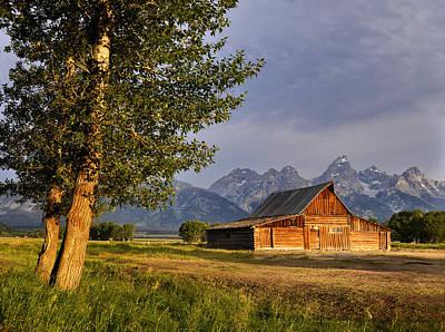Barn In The Tetons Poster by Rob Hemphill