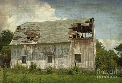 Barn - Lonely And Abandoned - Luther Fine Art Poster by Luther Fine Art