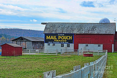 Barn - Mail Pouch Tobacco Poster by Paul Ward