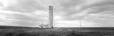 Barn Near A Silo In A Field, Texas Poster by Panoramic Images