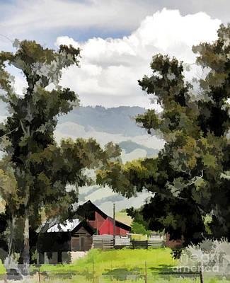 Barn On Santa Rosa Road Poster