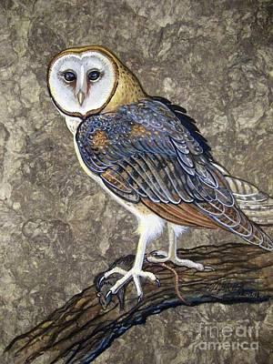 Barn Owl Midnight Snack Poster