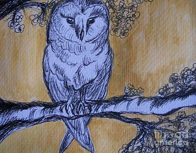 Poster featuring the painting Barn Owl by Teresa White