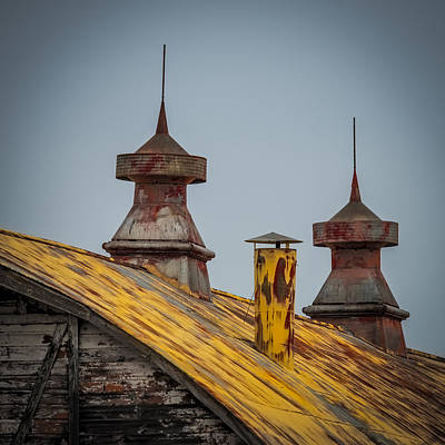 Barn Roof In Color Poster by Paul Freidlund