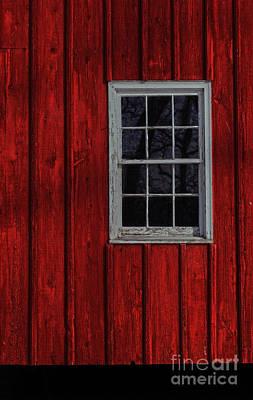 Poster featuring the photograph Barn Window by Debra Fedchin