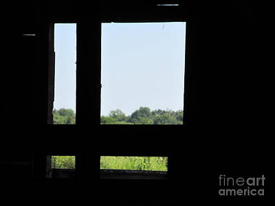 Poster featuring the photograph Barn Window by Tina M Wenger
