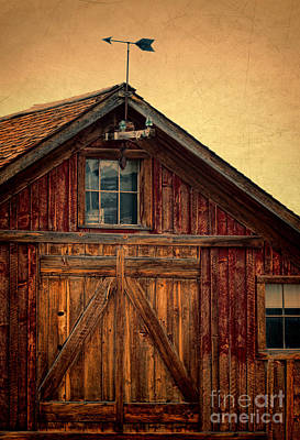 Barn With Weathervane Poster