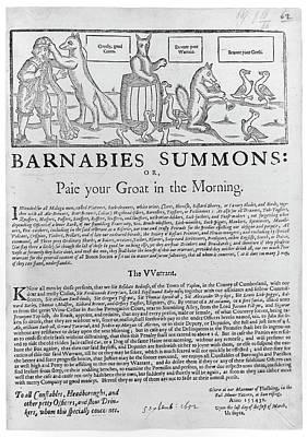 Barnabies Summons Poster